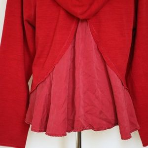 lululemon athletica Tops - LULULEMON Red Pull Me Over Cropped Hooded Sweater